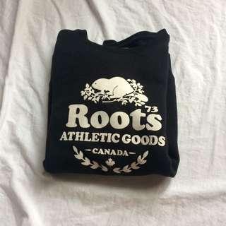 Roots Black Crew neck