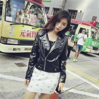 black Leather Jacket , Swag Ootd