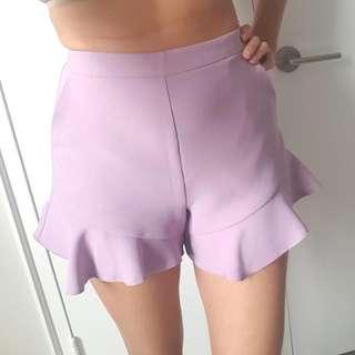 Lilac Top Shop Shorts