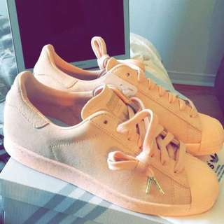Pink Adidas Superstars