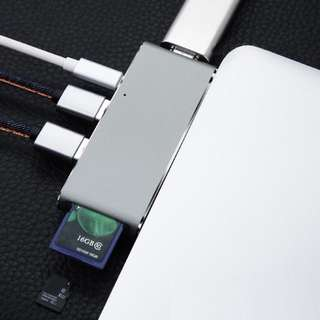 6-in-1 USB Type C Adapter to USB 3 HDMI Card Reader