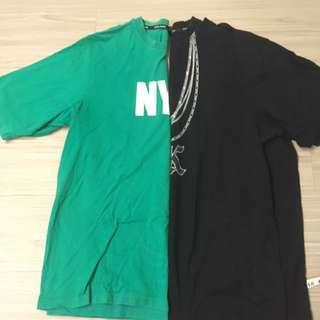 卡耐 寬大hip hop 上衣 兩件400