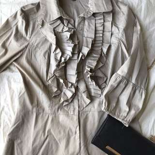 S-M Beige Dress Shirt