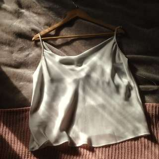 White Satin Crop