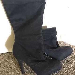 Pulp Noir High Heel Boots