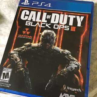 Black Ops III (3) For PS4