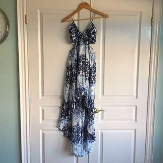 BCBG high low cut or dress