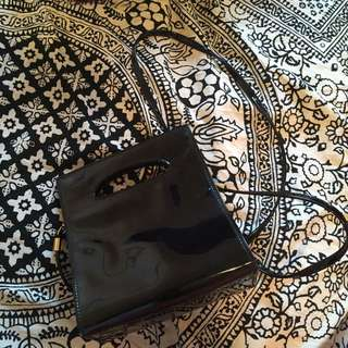 Black And Gold Mini Handbag