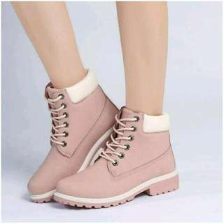 SALE 💕 Fashion Women Ankle Martin Boots Military Combat Shoes Pink