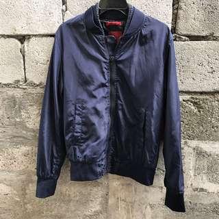 Zara Man Navy Blue Bomber Jacket