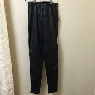 H&M Black Pants Faux Leather