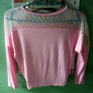 Crop Top Pink. Isang beses palang nagagamit.