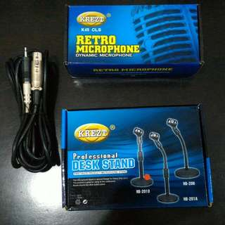 Kretz Retro Microphone + Stand