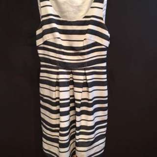 PORTMANS- Striped Navy Dress- Size 8