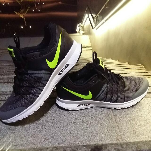 9e2927c391b 100% Authentic Nike Air Relentless 6 Black Green Running Shoes ...