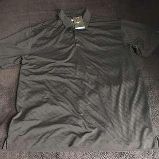 New Nike Dri Fit Black golf Polo Shirt Large