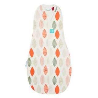 ergoCocoon有機棉二合一舒眠包巾-橙葉 0.2TOG 夏季專用3-12m