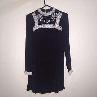 Black High Neck Dress ( HM )