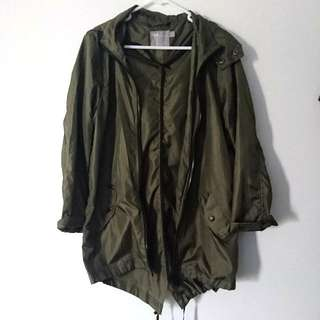Asos Khaki Pac A Mac Raincoat