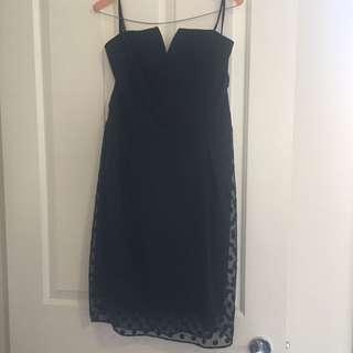 Forever New Spotty Black Dress