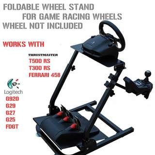 [New Stocks] Foldable Universal Racing Wheel Stand Mount  STEERING WHEEL NOT INCLUDED