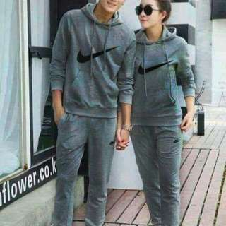 Terno couple Fabric-cotton Terry Available color- black, charcoal gray, light gray.