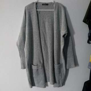 Cottonon Grey Long Cardigan