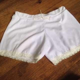 Cute White Short