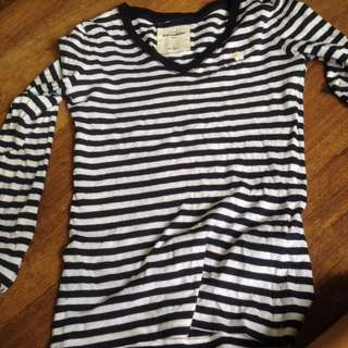 Abercrombie Long Sleeve Black And White