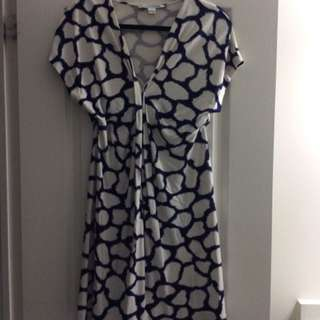 Authentic Diane von Furstenberg Natalie Silk Gathered Dress