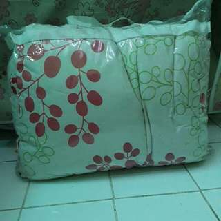 (2nd) Bedcover Set Creme Grey Abstrak