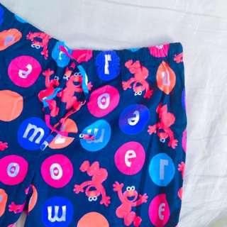 Elmo滿版寬褲