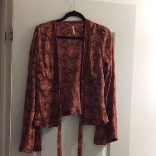 Free People Tie Front Cardigan - M