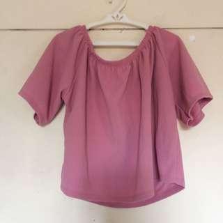 Blush Pink Offshoulder Top