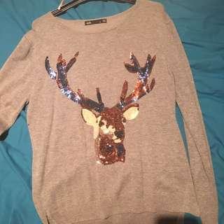 Deer Sparkly Top/jumper