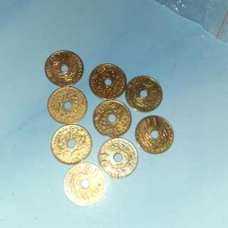 9 koin 1gulden nederlandsch indie..take all 95rb..ambil satuan 15000