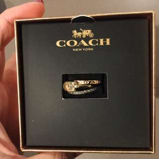 COACH Ring Set Size 8 (new)