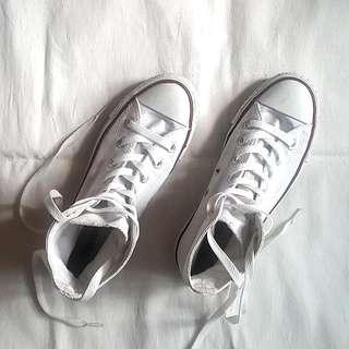 Authentic White Converse (high cut)