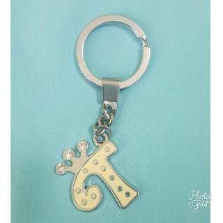 """""""T"""" Monogram Keychain"""