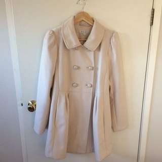 Forever New Coat - Dusty Rose Size 14