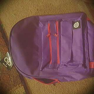 Purple And Pink Bookbag With Supplies