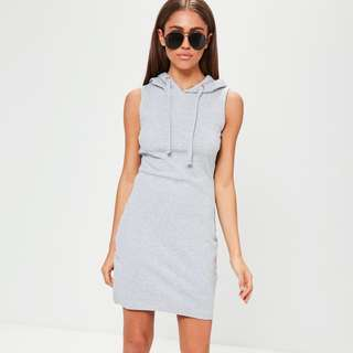 Missguided Ribbed Hooded Dress