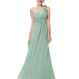 #女裝五折出清二手禮服出清/只穿過一次薄荷綠優雅長禮服伴娘服表演服