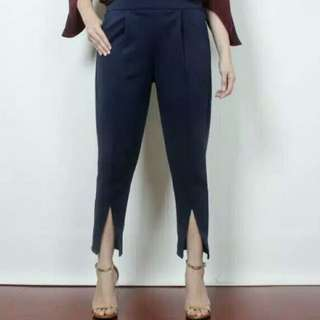 Slit Pants (navy)