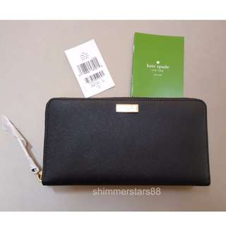 🆕Authentic Kate Spade Black Leather Wallet RRP$259