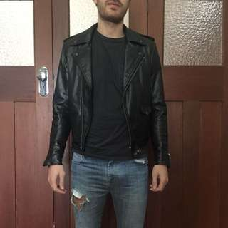 Men's Synthetic Leather Jacket