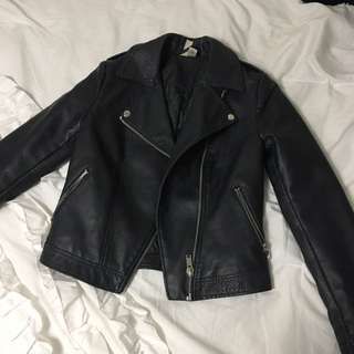 F21 Leather Biker Jacket