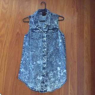 Neon Hart Acid Wash Dress