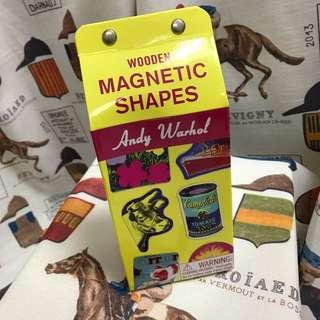Andy Warhol Wooden Magnetic Shapes 木面磁貼 / 磁石貼