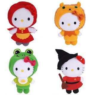 China Mcd Macdonald Fairy Tales Hello Kitty ( 2013 Full set 4pcs) FREE SHIPPING